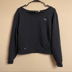 Puma Black Mesh Pullover Sweater Size M